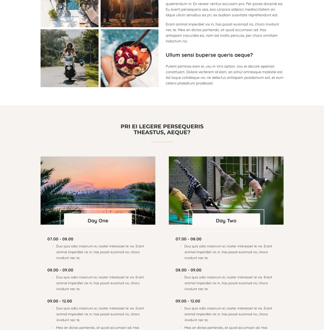 website template for life coach